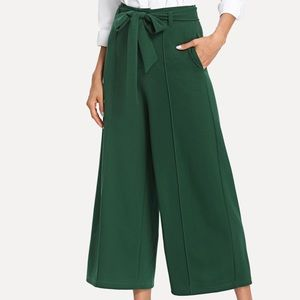 Emerald Green High waisted pleated pant